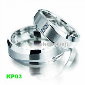 Cincin Kawin Palladium KP03