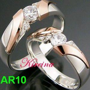 Cincin Kawin Perak Lapis Emas Mewah AR10