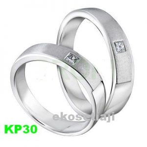 Cincin Kawin Palladium Simple KP30