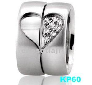 Cincin Kawin Palladium Couple KP60