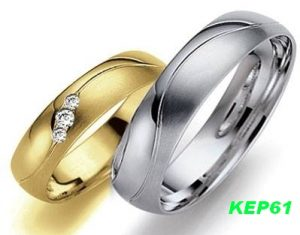 Cincin Kawin Muslim Palladium dan Emas KEP61