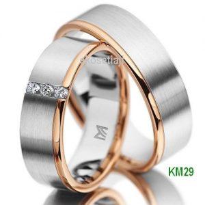 Cincin Tunangan Perak Lapis Emas KM29