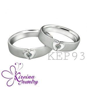 Cincin nikah emas putih dan palladium KEP93