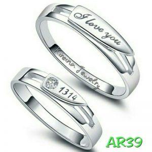 Cincin Tunangan Silver AR39