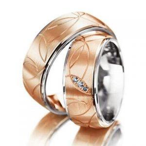 Cincin Tunangan Rosegold kombinasi silver