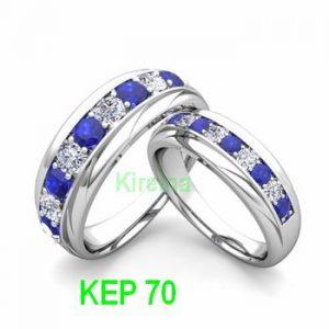 Cincin Tunangan KEP70 Batu biru