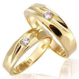 Cincin tunangan perak lapis emas