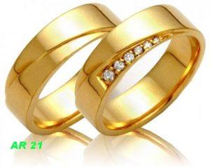 Cincin Tunangan Lapis Emas AR21
