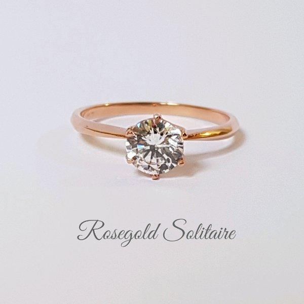 Cincin wanita Solitaire